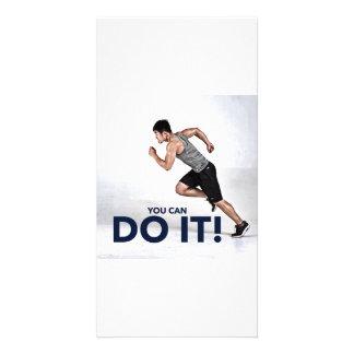 ¡Usted puede hacerlo! - Tarjeta de Plantilla Para Tarjeta De Foto