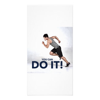 ¡Usted puede hacerlo! - Tarjeta de Tarjeta Fotográfica Personalizada