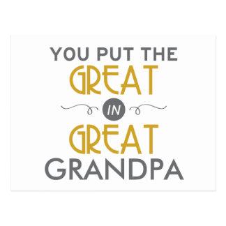 Usted puso el grande en gran abuelo postal
