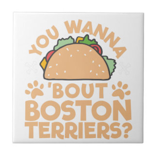 ¿Usted quiere a los terrieres de Boston del Azulejo De Cerámica