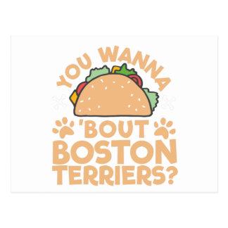 ¿Usted quiere a los terrieres de Boston del Postal