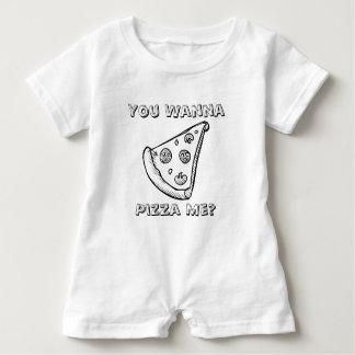 Usted quiere una pizza yo - mameluco del bebé del