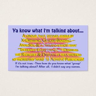 Usted sabe de lo que estoy hablando… tarjeta de negocios
