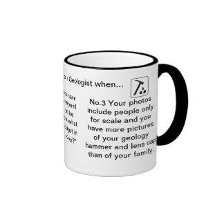 Usted sabe que usted es geólogo cuando… tazas de café