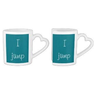 Usted salta, yo salta set de tazas de café