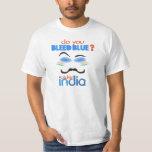 ¿Usted sangra el azul? Grillo la India Camisetas