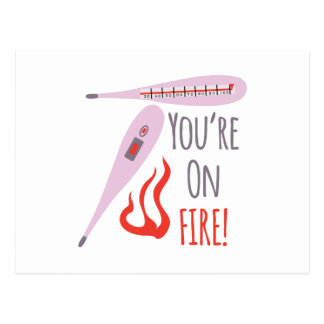 ¡Usted se arde! Postal