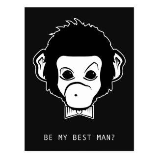 ¿usted será mi bestman? mono del señor postal