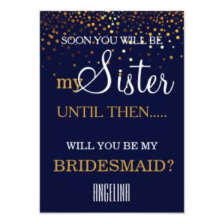 ¿Usted será mi dama de honor? Invitación 12,7 X 17,8 Cm
