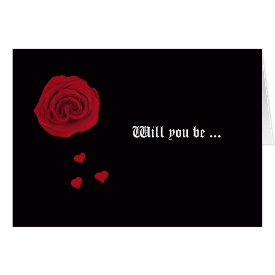 ¿Usted será mi dama de honor? Tarjeta -- Color de