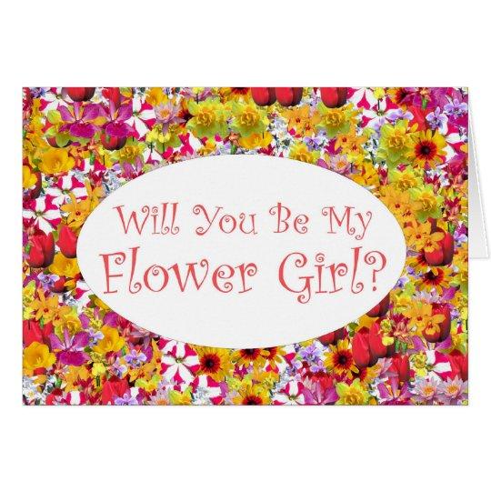 ¿Usted será mi florista? Tarjeta De Felicitación
