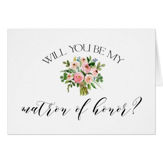 Usted será mi matrona de la tarjeta del honor -