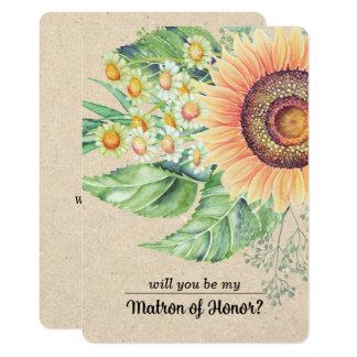 ¿Usted será mi matrona del honor? Invitaciones de