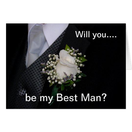 Usted será mi mejor hombre tarjeta de felicitación