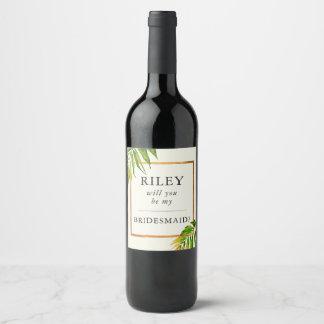 Usted será mi oro de la etiqueta del vino de la