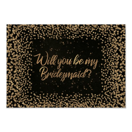 Usted será mi oro del purpurina de Brown VIP de la Invitación 8,9 X 12,7 Cm