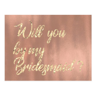 Usted será mi oro del rosa color de rosa de la postal