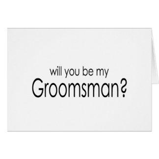 ¿Usted será mi padrino de boda? tarjetas de nota