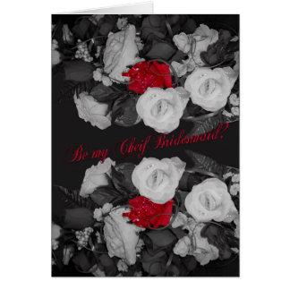 Usted será mi principal dama de honor que el boda tarjeta de felicitación