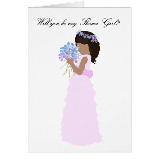 Usted será mi rosa y azul del florista tarjeta de felicitación