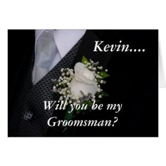 Usted será mi sobrino del padrino de boda tarjeta