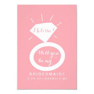 Usted será mi tarjeta de la dama de honor - anillo invitación 8,9 x 12,7 cm