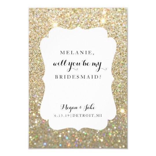 Usted será mi tarjeta de la dama de honor - día de