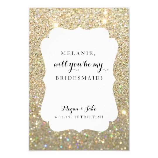 Usted será mi tarjeta de la dama de honor - día de invitación 8,9 x 12,7 cm
