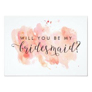 Usted será mi tarjeta de la dama de honor invitación 11,4 x 15,8 cm