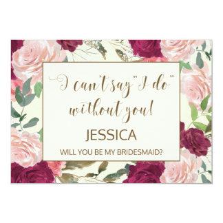 Usted será mi tarjeta de la dama de honor invitación 12,7 x 17,8 cm