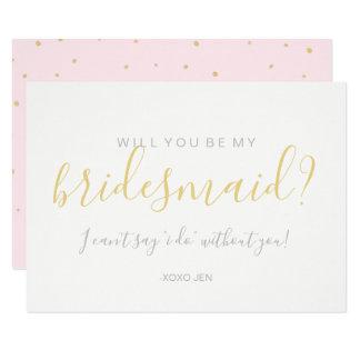 Usted será mi tarjeta de la dama de honor - rosa
