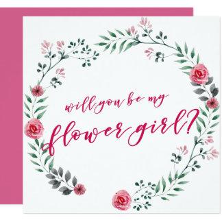 Usted será mi tarjeta de la oferta del florista el invitación 13,3 cm x 13,3cm