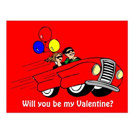 ¿Usted será mi tarjeta del día de San Valentín? 8 Tarjeta Postal