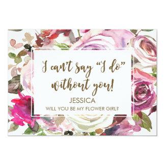 Usted será mi tarjeta del florista personalizada