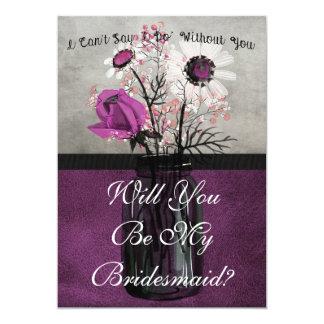 Usted será mi tarjeta personalizada púrpura de la invitación 12,7 x 17,8 cm