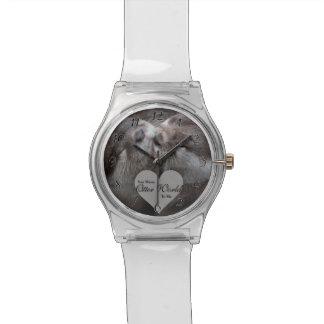 Usted significa el mundo de la nutria a mí el reloj de pulsera