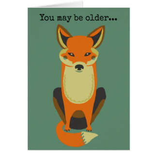 Usted sigue siendo un Fox Tarjeta De Felicitación