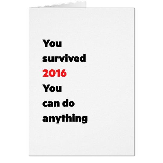 """Usted sobrevivió 2016"" tarjetas"