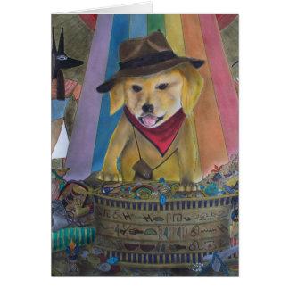Usted tarjeta afortunada del perro