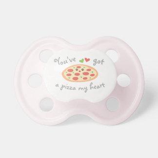 Usted tiene una pizza mi bebé unisex del chupete