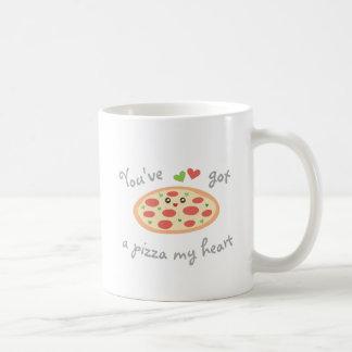 Usted tiene una pizza mi retruécano divertido taza de café