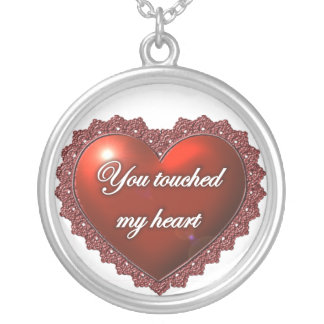 Usted tocó mi corazón colgante redondo