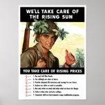 Usted toma el cuidado de precios en aumento -- WWI Poster