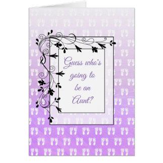 Usted va a ser una tarjeta de tía Announcement