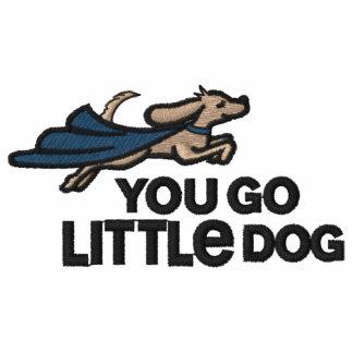 Usted va polo bordado del pequeño perro