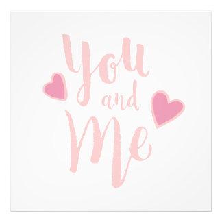 Usted y yo - diseño de la tipografía de las letras arte con fotos
