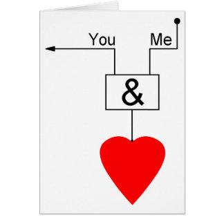 Usted y yo lógica de Digitaces de la edición del e Tarjeta De Felicitación