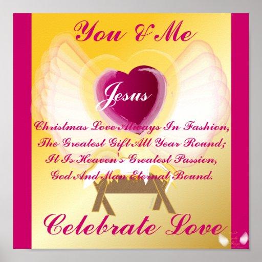 Jesus celebra amor celebre el amor del navidad para siempre amor