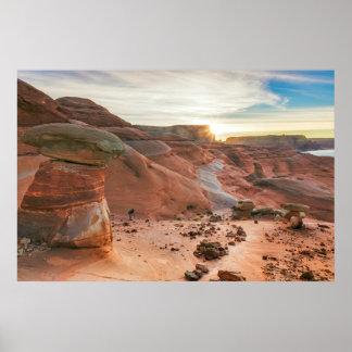 Utah, zona de recreo nacional 3 de Glen Canyon Póster