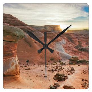 Utah, zona de recreo nacional 3 de Glen Canyon Reloj Cuadrado